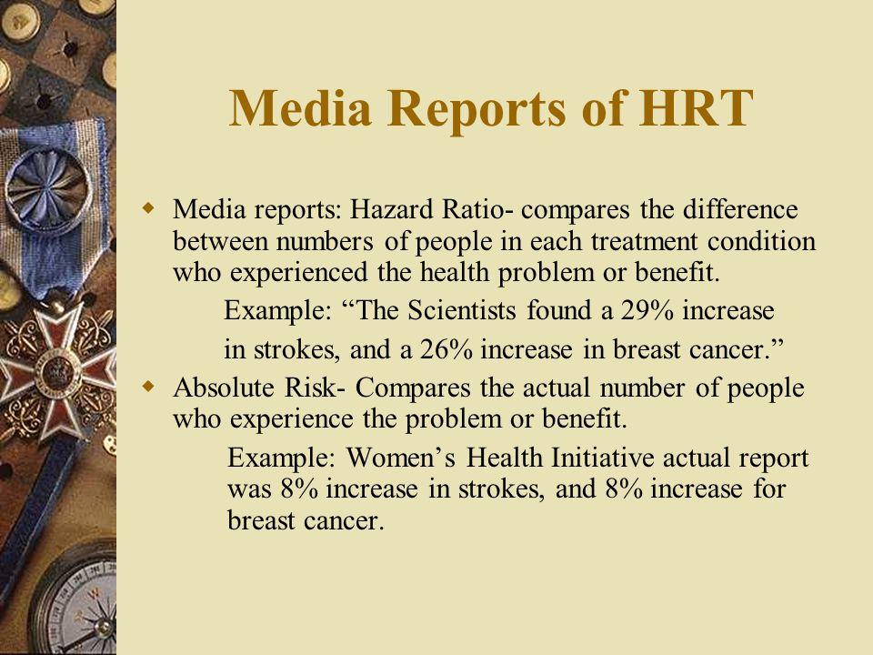Media Reports of HRT