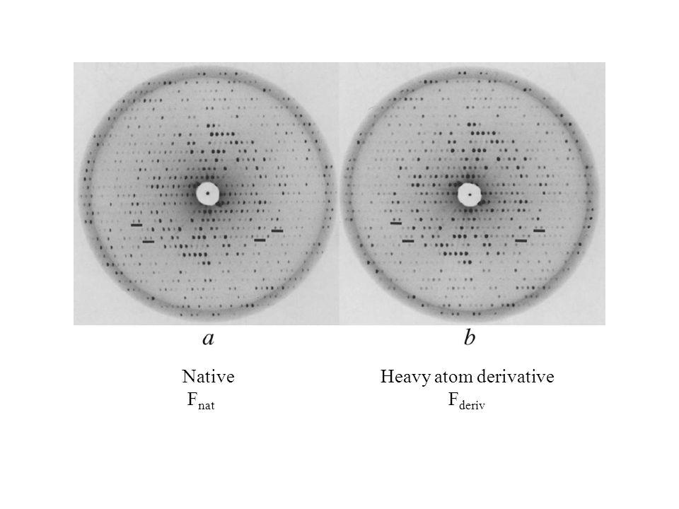 Native Fnat Heavy atom derivative Fderiv