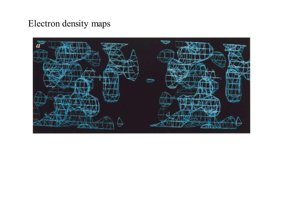 Electron density maps