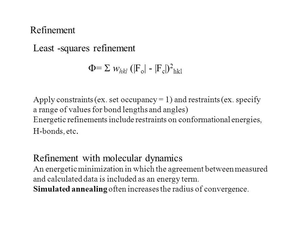 Least -squares refinement