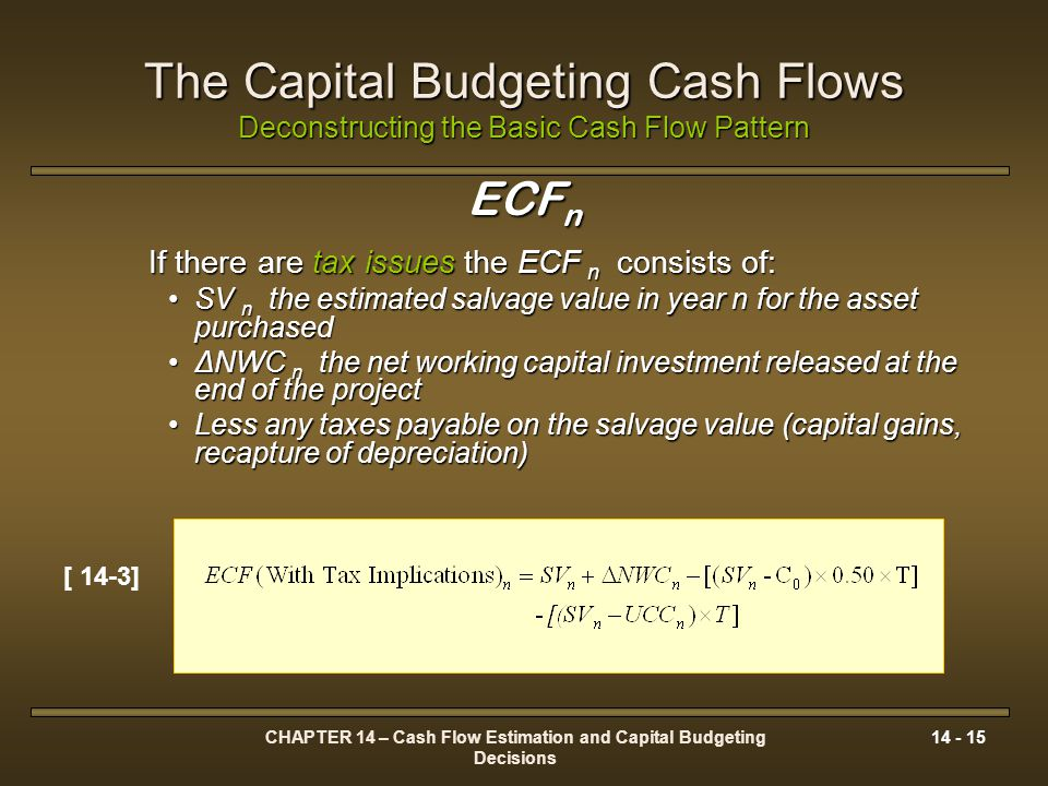 CHAPTER 14 – Cash Flow Estimation and Capital Budgeting Decisions