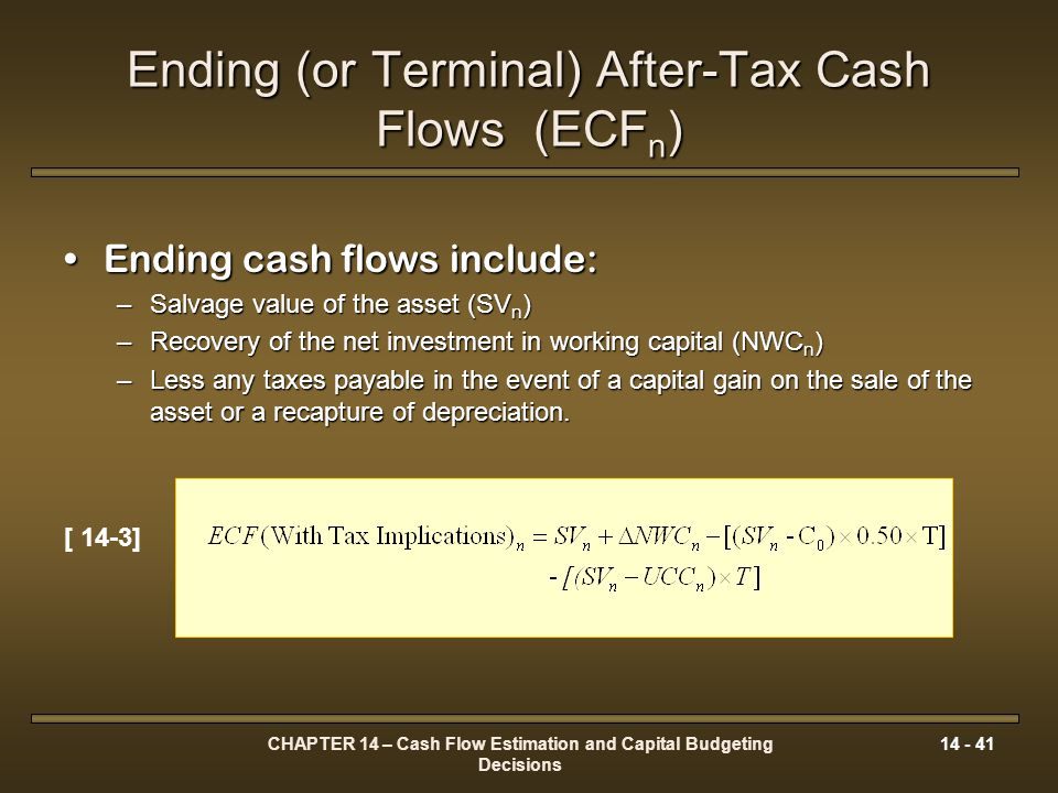 Ending (or Terminal) After-Tax Cash Flows (ECFn)