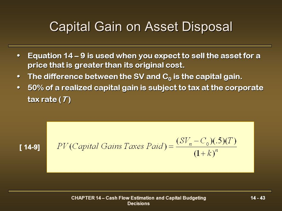 Capital Gain on Asset Disposal