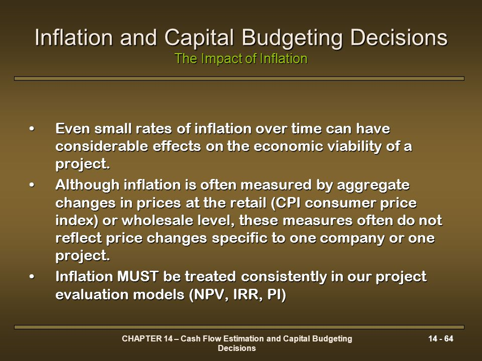Inflation and Capital Budgeting Decisions The Impact of Inflation
