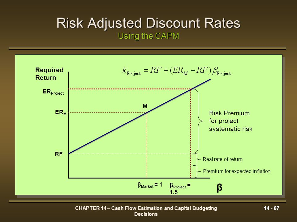 Risk Adjusted Discount Rates Using the CAPM