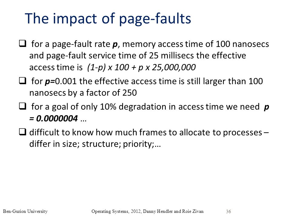 The impact of page-faults