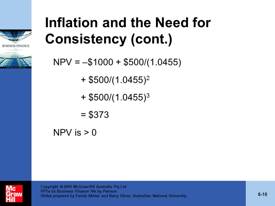 Inflation and the Need for Consistency (cont.)
