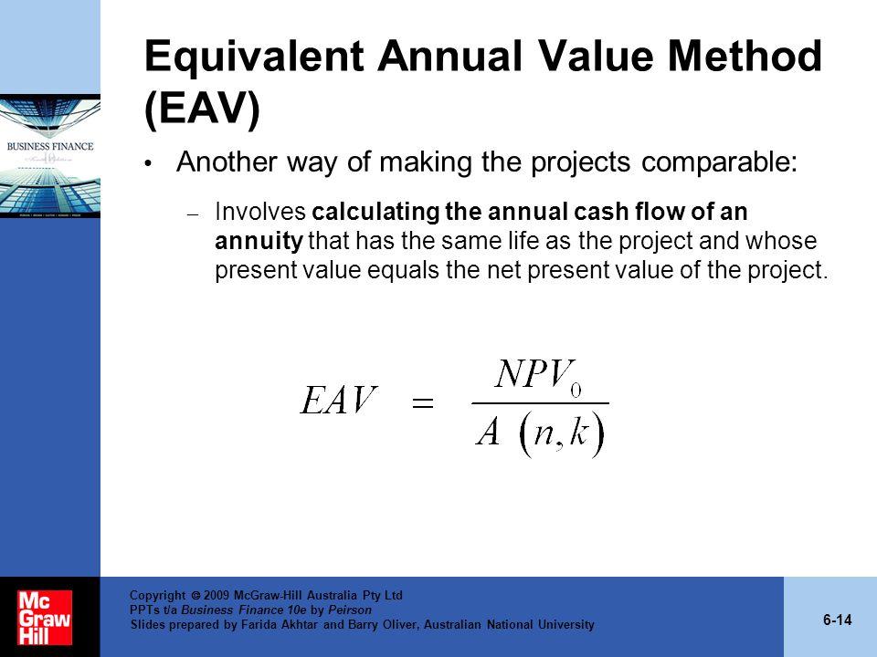 Equivalent Annual Value Method (EAV)