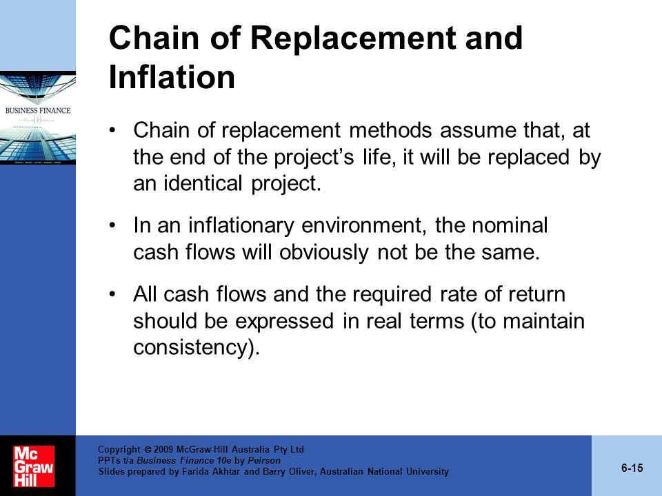 Chain of Replacement and Inflation