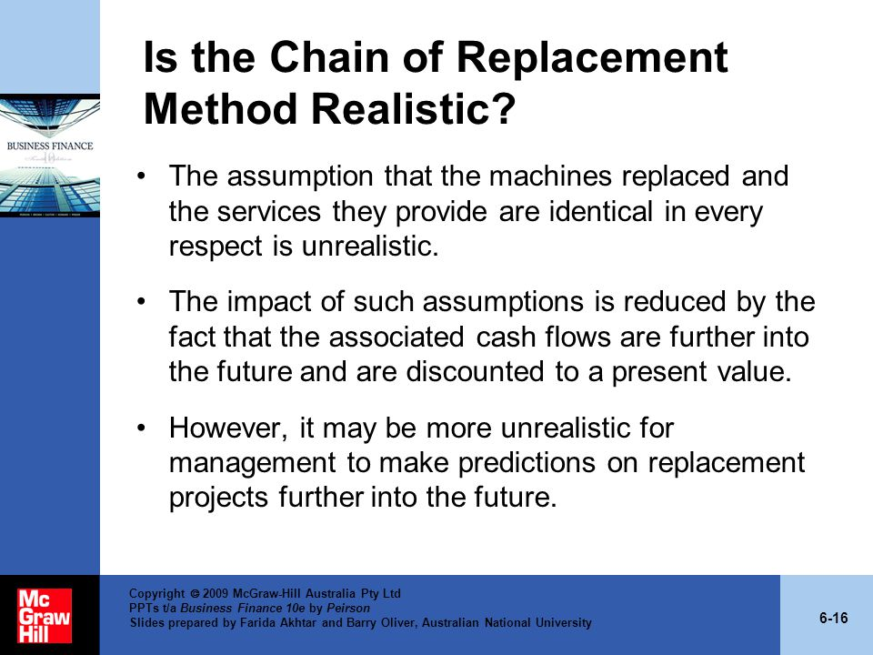 Is the Chain of Replacement Method Realistic