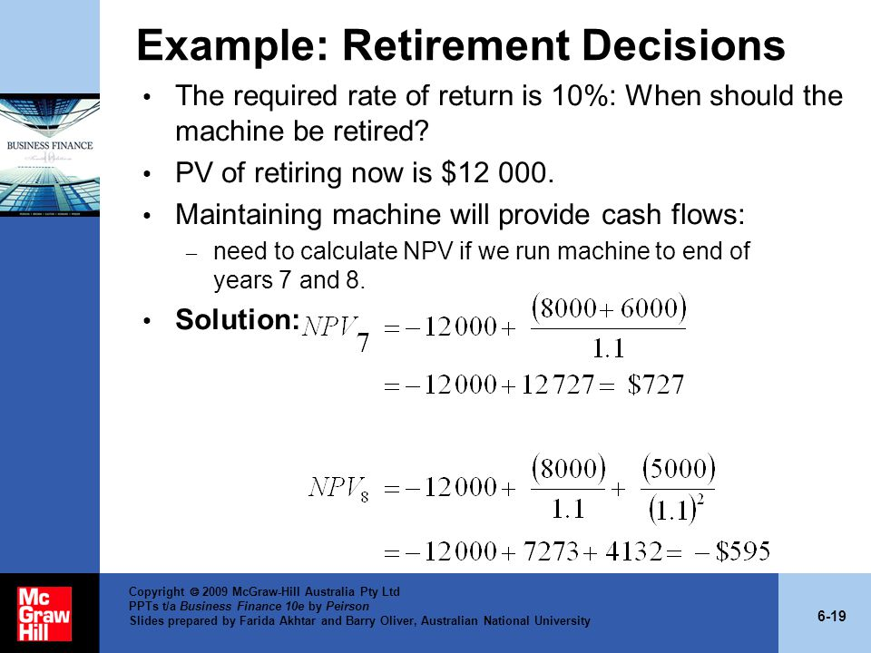 Example: Retirement Decisions