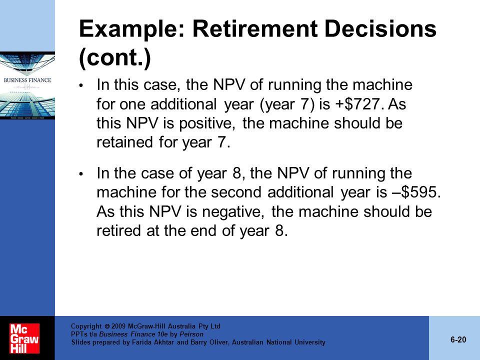 Example: Retirement Decisions (cont.)