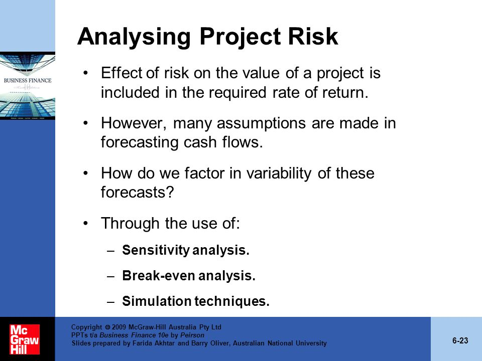 Analysing Project Risk