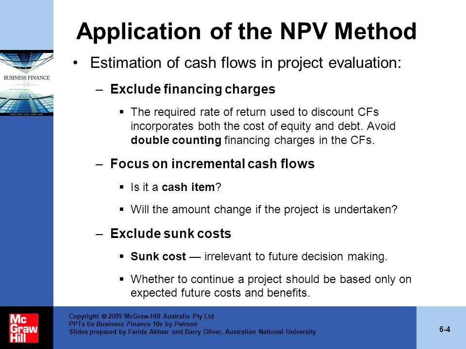 Application of the NPV Method