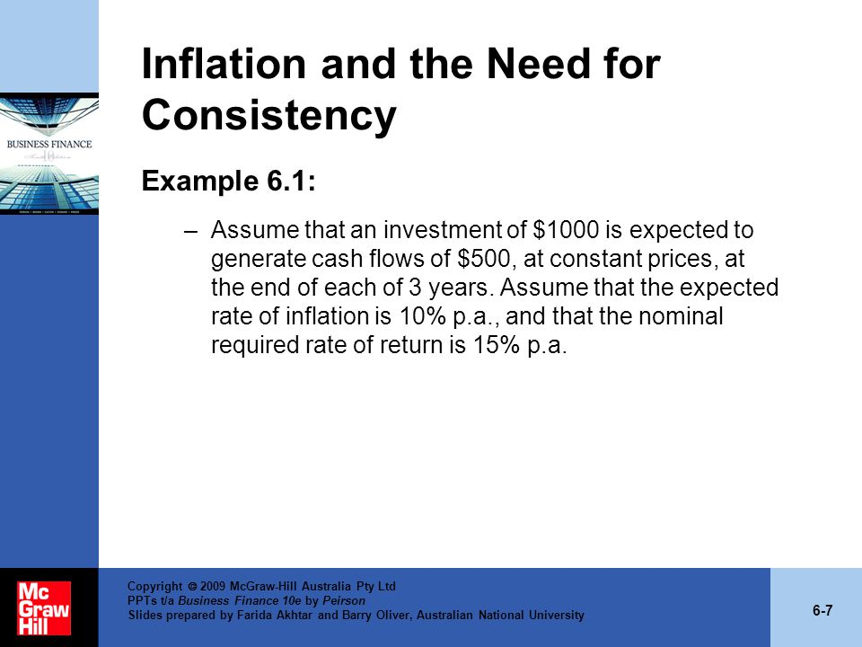 Inflation and the Need for Consistency