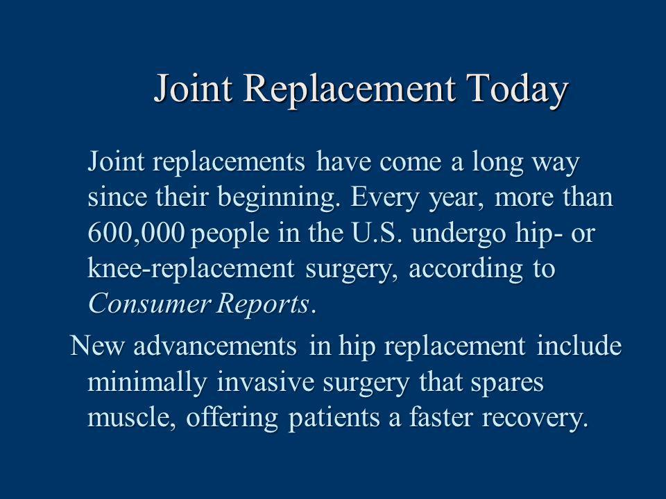 Joint Replacement Today