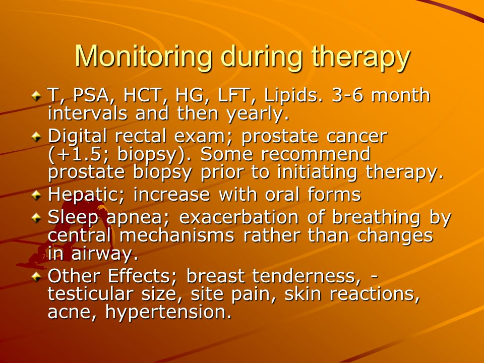 Monitoring during therapy