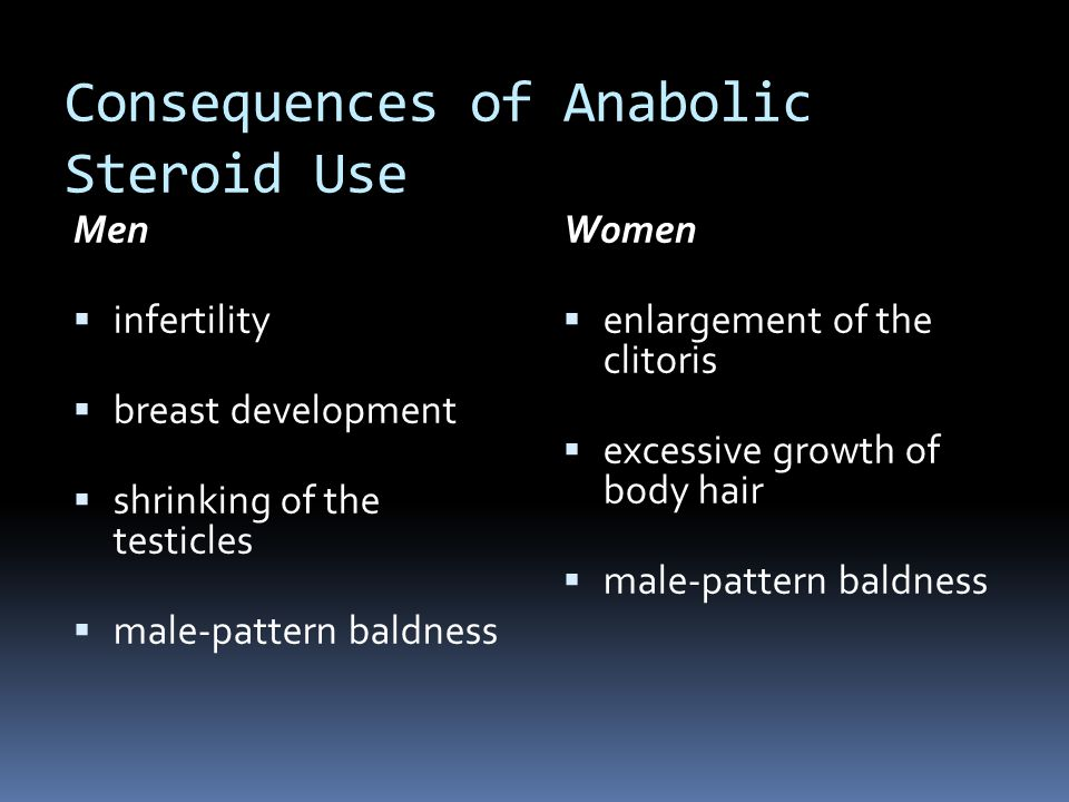 Consequences of Anabolic Steroid Use