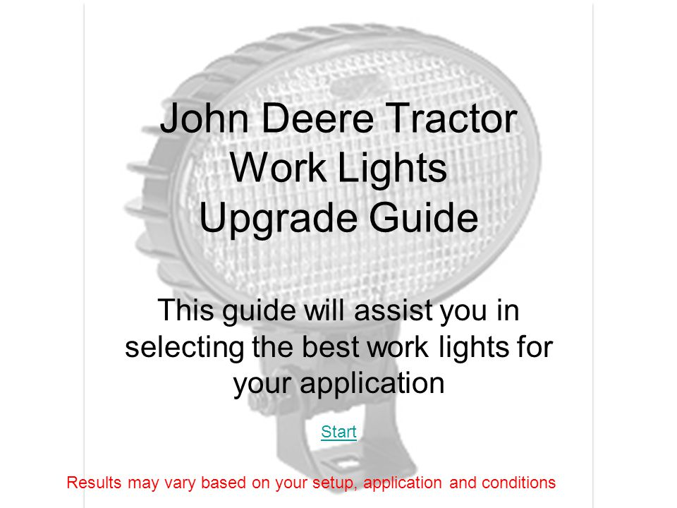 John Deere Tractor Work Lights Upgrade Guide