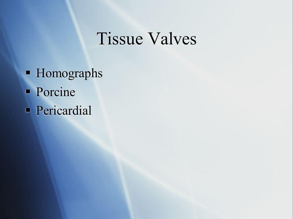 Tissue Valves Homographs Porcine Pericardial