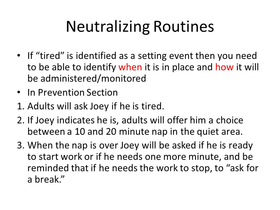 Neutralizing Routines