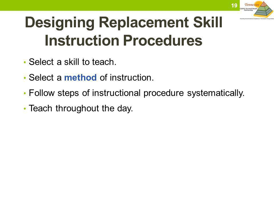 Designing Replacement Skill Instruction Procedures