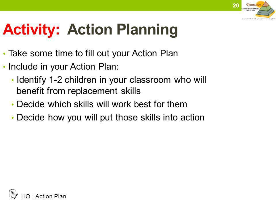 Activity: Action Planning
