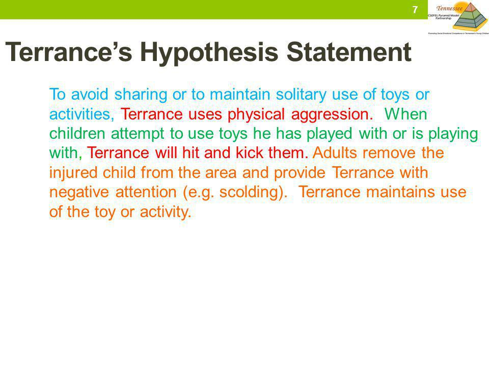 Terrance's Hypothesis Statement