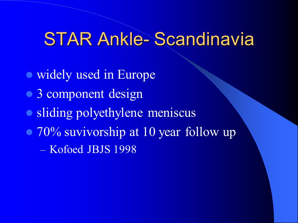 STAR Ankle- Scandinavia