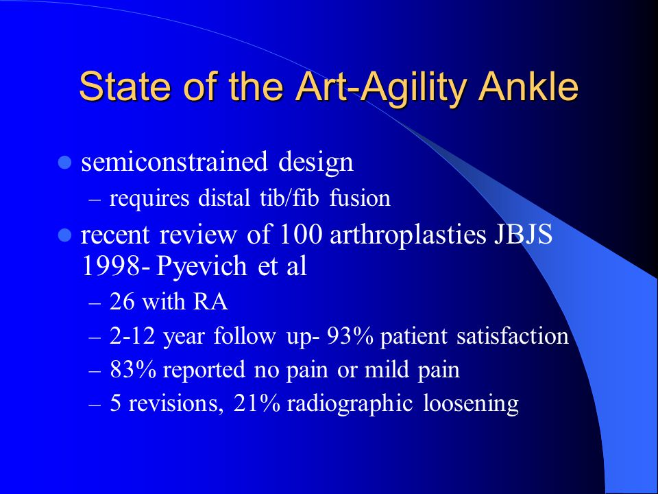 State of the Art-Agility Ankle