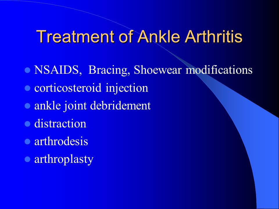 Treatment of Ankle Arthritis