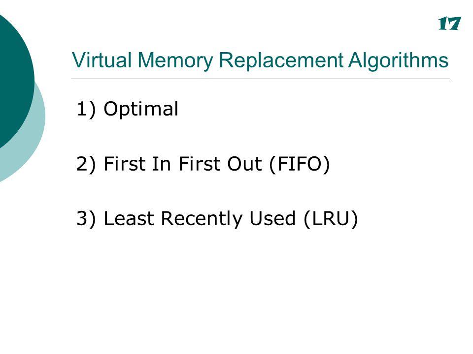 Virtual Memory Replacement Algorithms