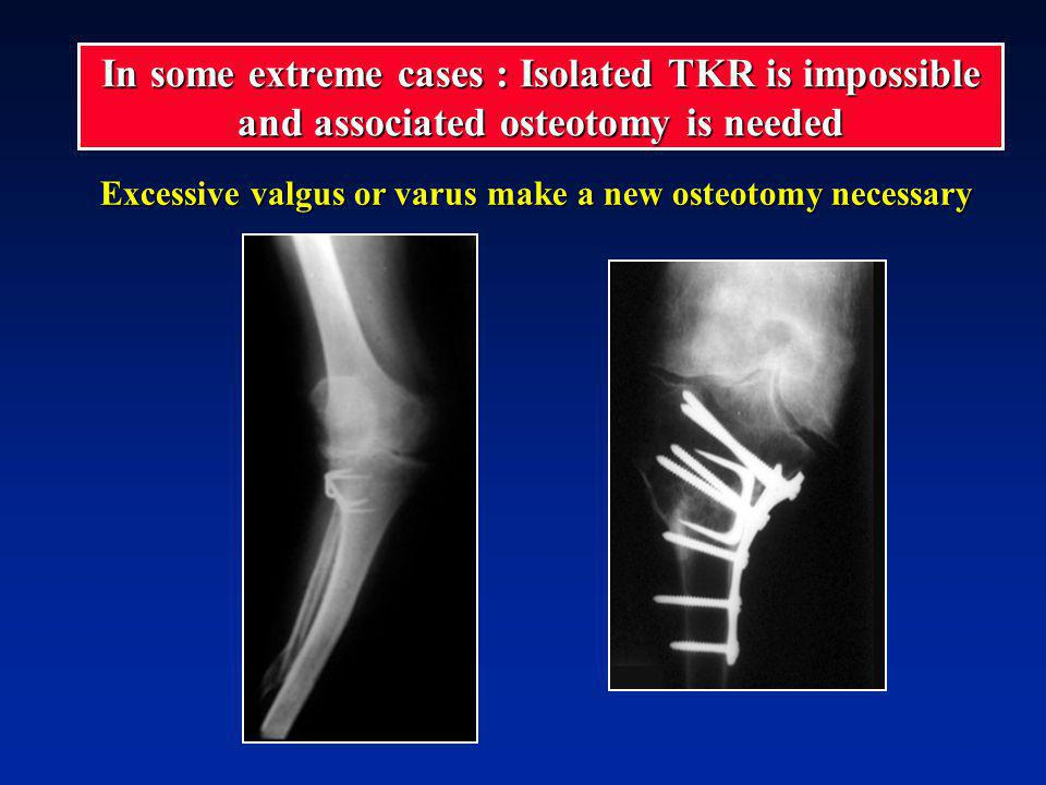 Excessive valgus or varus make a new osteotomy necessary