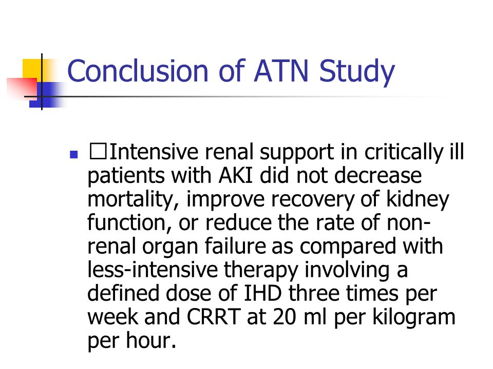 Conclusion of ATN Study