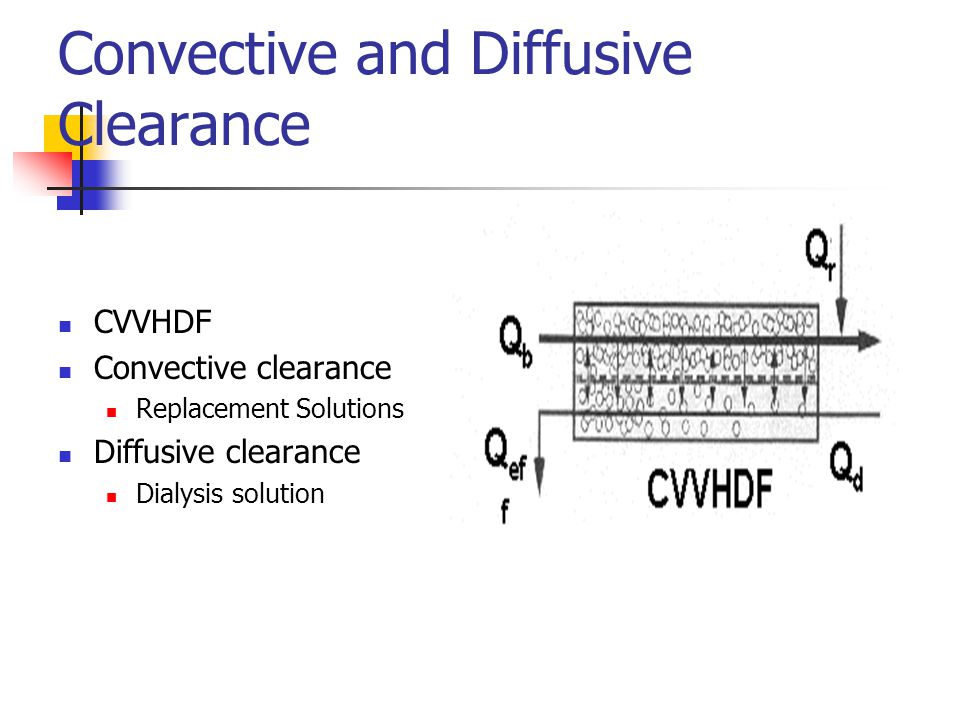 Convective and Diffusive Clearance