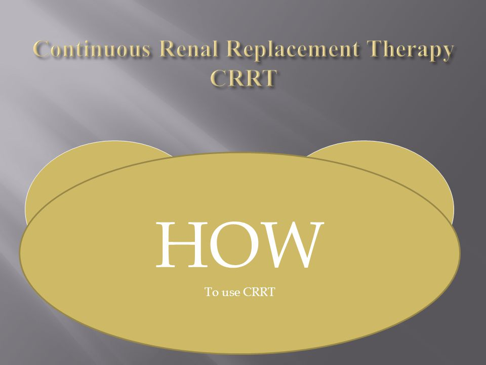 Continuous Renal Replacement Therapy CRRT