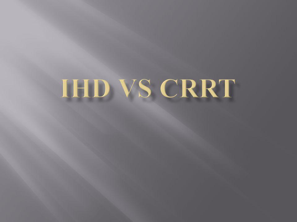 IHD Vs CRRT