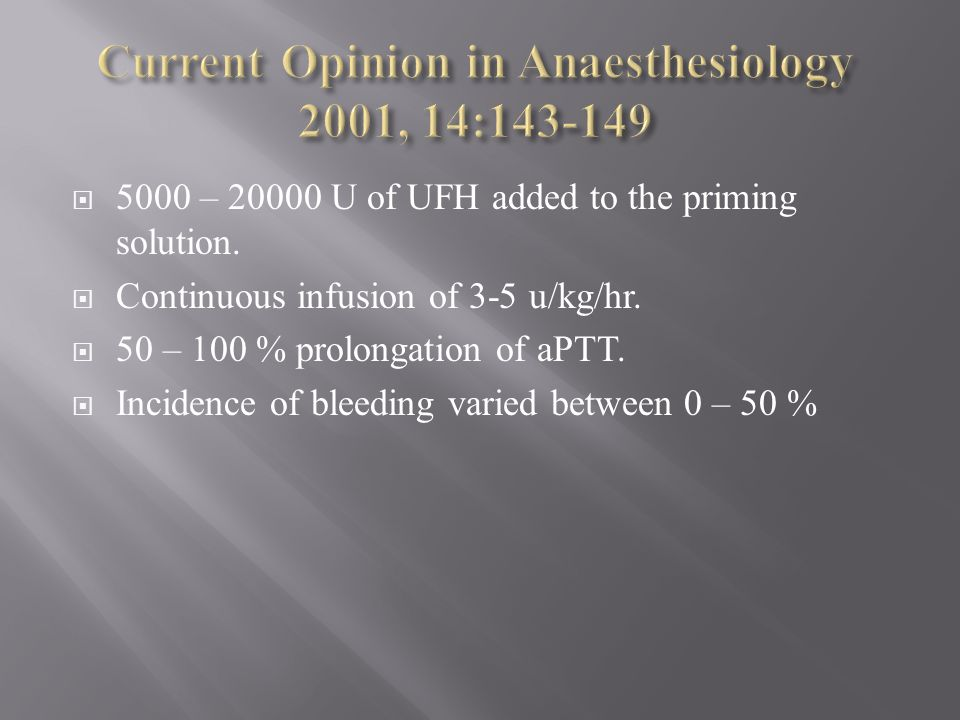 Current Opinion in Anaesthesiology 2001, 14:143-149