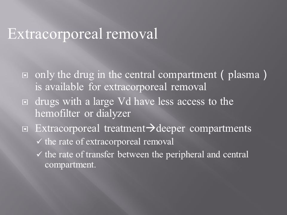 Extracorporeal removal
