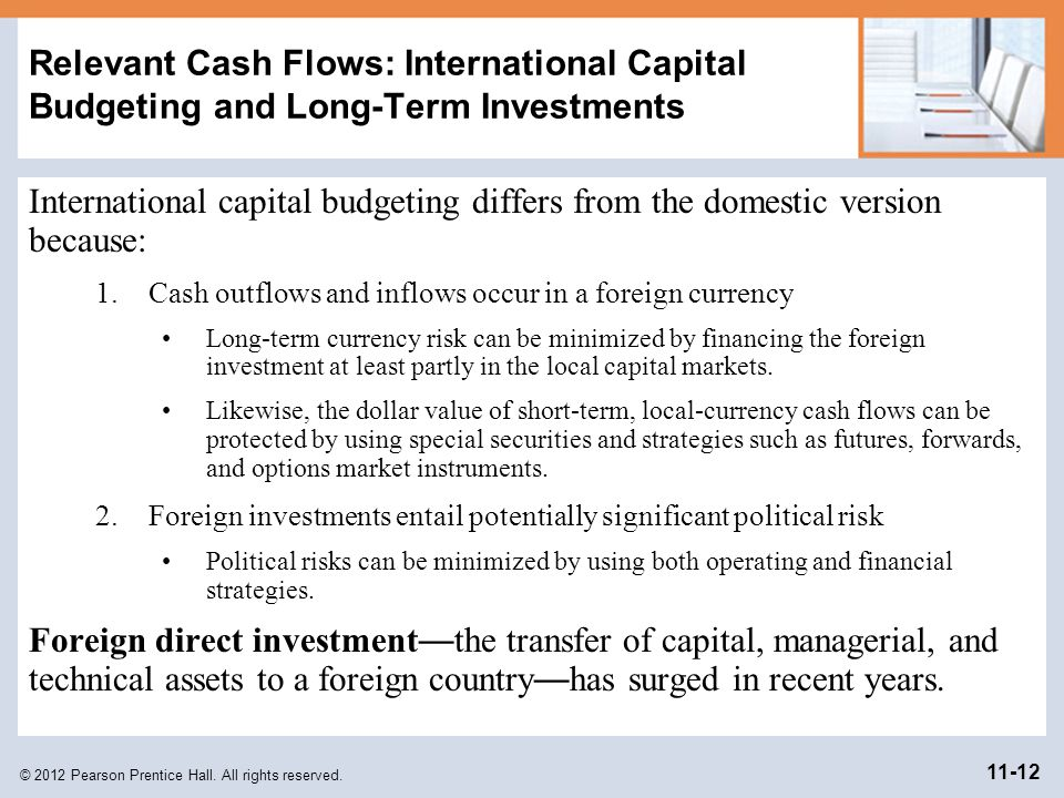 Relevant Cash Flows: International Capital Budgeting and Long-Term Investments
