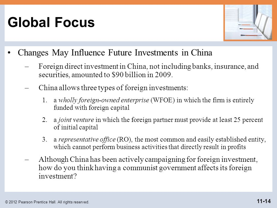 Global Focus Changes May Influence Future Investments in China