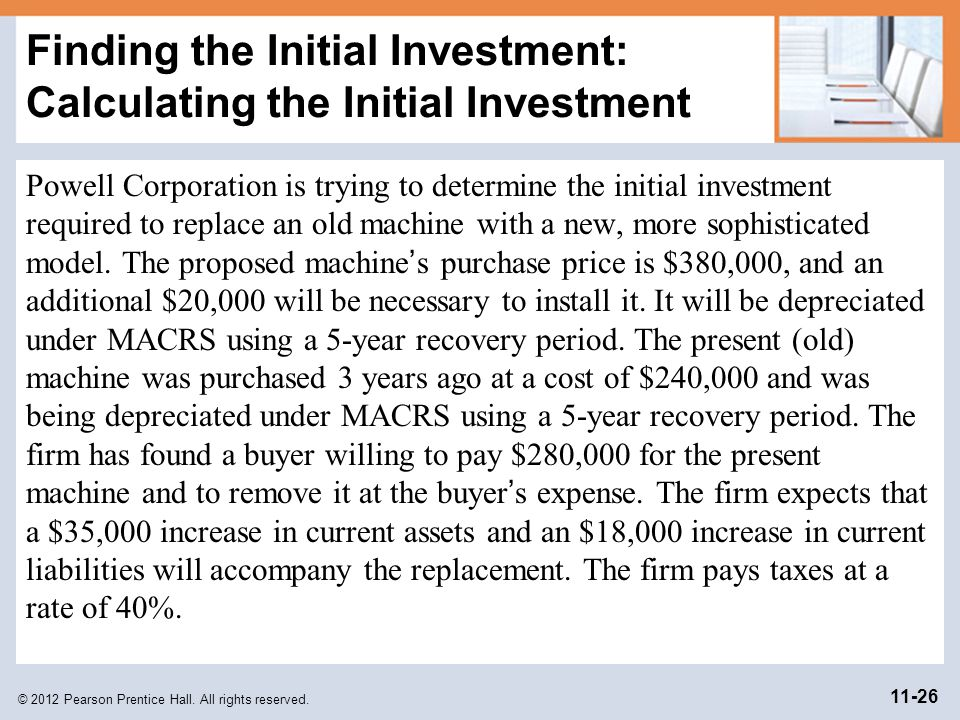 Finding the Initial Investment: Calculating the Initial Investment