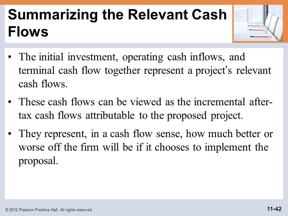 Summarizing the Relevant Cash Flows