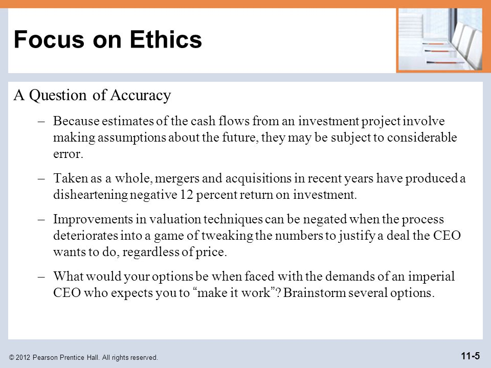 Focus on Ethics A Question of Accuracy