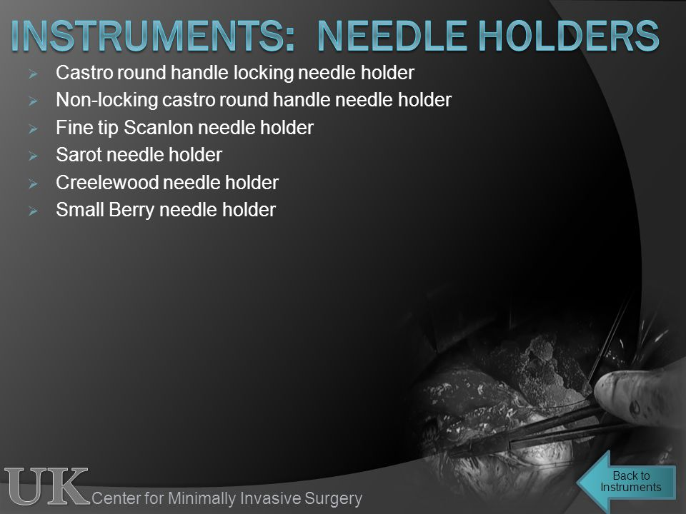 instruments: needle holders