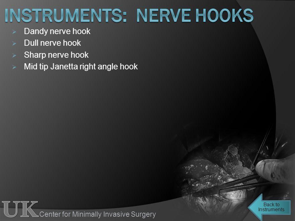 instruments: nerve hooks