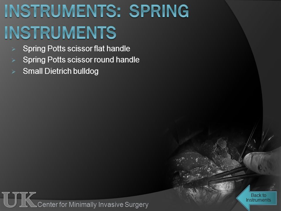 instruments: spring instruments