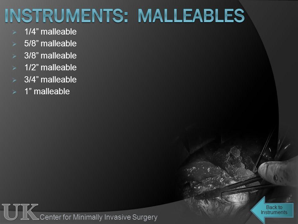 instruments: malleables