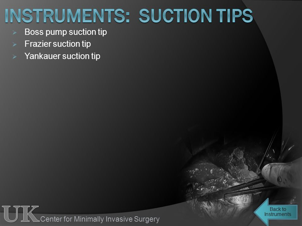 instruments: suction tips