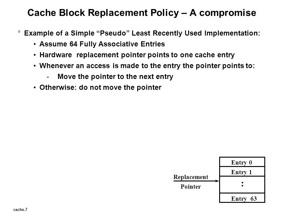 Cache Block Replacement Policy – A compromise
